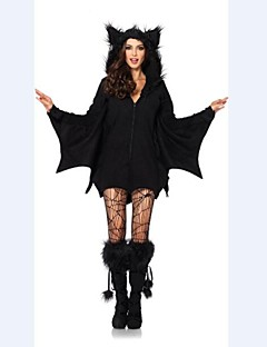 Cosplay Costumes / Party Costume Movie/TV Theme Costumes Festival/Holiday Halloween Costumes Black Solid DressHalloween / Christmas /