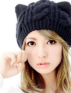 Women's Korean Fashion Cat Ears Wool Hat
