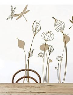 pared calcomanías pegatinas de pared, libélula flor decoración para el hogar pvc arte vinilo pegatinas de pared