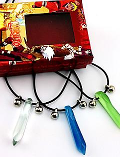 Бижутерия Вдохновлен Наруто Naruto Uzumaki Аниме Косплэй аксессуары ожерелья Синий / Зеленый Мужской