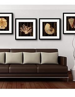 Dyr / Fantasi Indrammet Lærred Wall Art,PVC Sort Måtte Inkluderet med Frame Wall Art