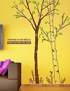 wall stickers Vægoverføringsbilleder, moderne enkelhed træ pvc wall stickers