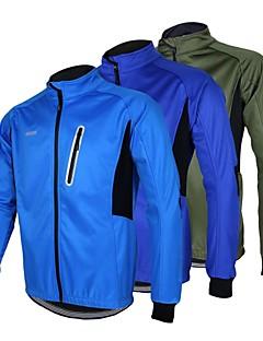 Arsuxeo® ג'קט לרכיבה לגברים שרוול ארוך אופנייםעמיד למים / נושם / שמור על חום הגוף / עמיד / עיצוב אנטומי / בטנת פליז / כיס אחורי / רצועות
