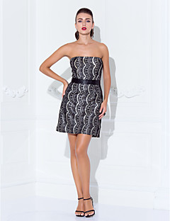 Cocktail Party/Holiday Dress - Multi-color Misses/Pear/Inverted Triangle/Hourglass/Apple/Petite Sheath/Column Strapless Short/Mini