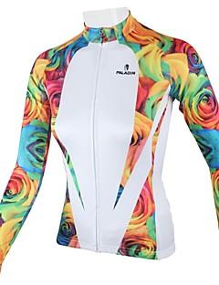 ILPALADINO Camisa para Ciclismo Mulheres Manga Longa Moto Camisa/Roupas Para Esporte Blusas Secagem Rápida Respirável 100% Poliéster