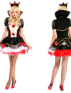 Elegant Queen of Hearts Black Fancy Dress Women's Halloween Costume