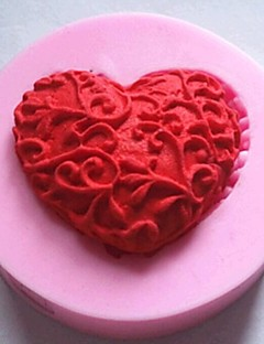 hartvormige fondant cake chocolade siliconen mal taart decoratie gereedschappen, l4.8cm * w4.8cm * h1.2cm