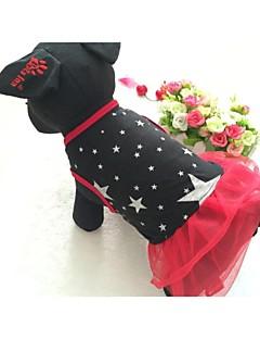 犬用品 ドレス レッド ブラック 犬用ウェア 夏 春/秋 Stars カジュアル/普段着