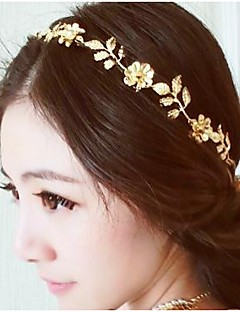 Vintage Gold Flower and Leaf Crystal Hairband Headband Head Chain Hair Jewelry Hair Accessires Head Jewelry