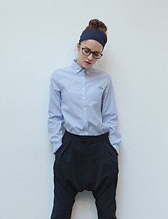 TS 여성의 옷깃 목에 일치하는 모든 레저 셔츠