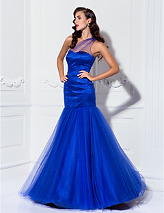 TS Couture® Prom / Formal Evening / Military Ball Dress - Vintage Inspired / See Through Plus Size / Petite Trumpet / Mermaid One Shoulder