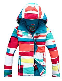 לנשים מעילי סקי/סנובורד סקי / החלקה / ספורט שלג / סנואובורד עמיד למים / נושם / לביש / עמיד / שמור על חום הגוף חורףלבן / אדום / כחול /