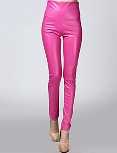 stretchy calças de veludo couro embutidos de incern®women (mais cores)