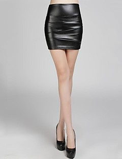 Women PU Skirt , Without Lining/Fleece Lining