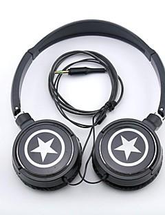 spc06 hvězdy logo stereofonní sluchátka 3,5mm jack přes ucho pro MP3 / telefony / ks