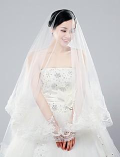 클래식 수제 웨딩 의류 웨딩 액세서리 웨딩 베일 3m 긴 두 가지 색상 신부의 베일