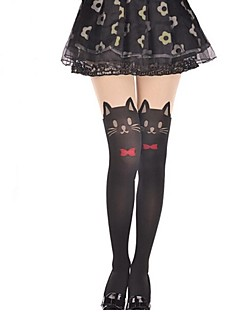 Socks/Stockings Sweet Lolita Lolita Princess Lolita Accessories Stockings Bowknot Solid For Velvet
