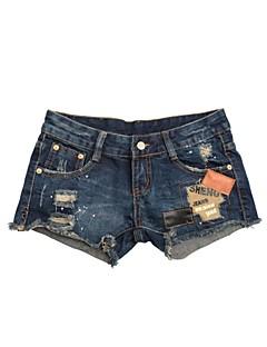 vrouwenorganisaties denim gat shorts broek