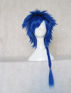 Cosplay Wigs Vocaloid Kaito Blue Short Anime/ Video Games Cosplay Wigs 35 CM Heat Resistant Fiber Female