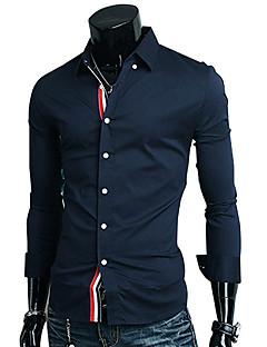 Ruhm Hemd Kragen Langarm-Band-Dekoration Casual Shirt