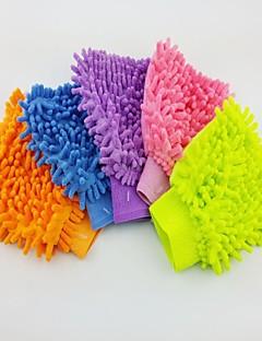 (5 pezzi) illuminato fibra di ciniglia singolo-lato lavaggio auto guanto