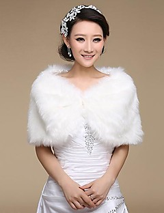 Wedding / Party/Evening Faux Fur Shawls Fur Wraps