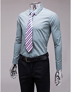 Gray Slim Fit Long Sleeve Shirt