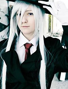 yksivärinen tekijä Shirogane puhtaan valkoinen 150cm cosplay peruukki