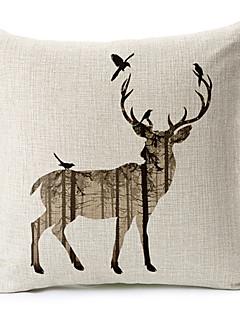mégacéros coton / lin taie d'oreiller décoratif