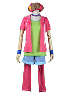 Inspired by No Game No Life Cosplay Anime Cosplay Costumes Cosplay Suits Patchwork Pink Short SleeveCoat / T-shirt / Pants / Collar /