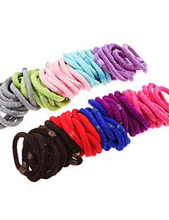 100pcs Multicolor Fluffy Hair Bands