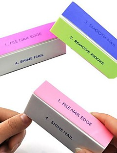 1pcs 4-way multi-colore di arte del chiodo di lucidatura blocco levigatura file / rimuovere creste / chiodo liscio / shine nail