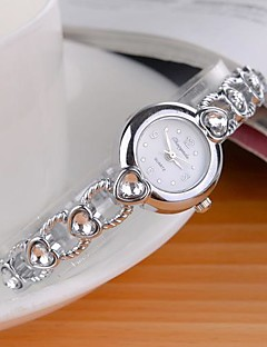Mulheres Relógio de Moda Quartzo Lega Banda Brilhante Heart Shape Prata Branco Preto Roxo Rosa claro Azul Claro