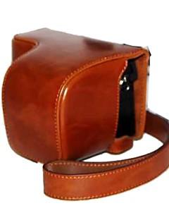 dengpin® pu cas appareil photo de la peau de l'huile de sac en cuir couvrir avec bandoulière pour Sony A6000 ILCE-6000l a6000l NEX-6