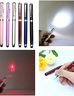 LT-4-In -1 Function  Ballpen Capacitive Touch Red Laser Pointer(1MW.650nm.3 X button cell.Multicolor)