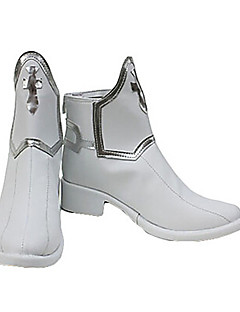 Sword Art Online Asuna Yuuki White PU Leather Anime Cosplay Shoes