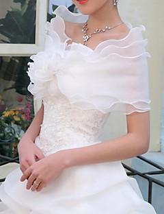 결혼식은 꽃과 오간자 신부의 웨딩 숄 랩