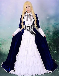 Inspired by Vocaloid Kaito Video Game Cosplay Costumes Cosplay Suits / Dresses Patchwork White / Black Long Sleeve Dress / Cravat / Belt
