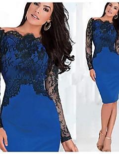 vicone kvinnors långärmad spets sexig Bodycon ol slanka klänningar