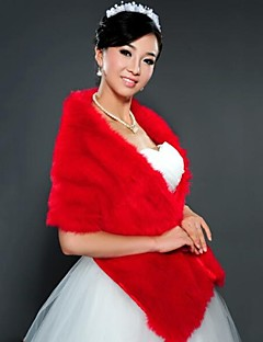 Wedding Faux Fur Shawls Sleeveless Fur Wraps