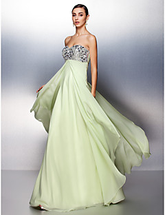 Prom / Formal Evening Dress - Sage Plus Sizes / Petite A-line Sweetheart Floor-length Chiffon
