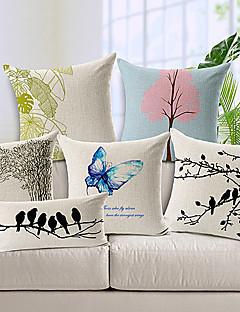 ensemble de coton de style / linge taie d'oreiller décoratif 6 pays