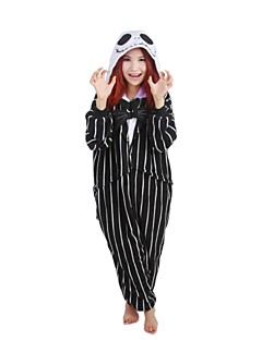 Kigurumi Pajamas Skeleton Leotard/Onesie Festival/Holiday Animal Sleepwear Halloween Print Polar Fleece Kigurumi For UnisexHalloween