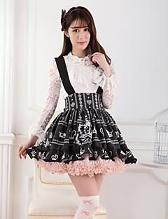 Black Crown AndRose Flannel Lolita Princess Skirt Lovely