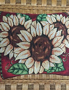 """18 """"* 12"""" rectangulaire trois tournesol polyester jacquard de coton taies d'oreiller décoratif"""