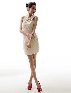 볼 가운 어깨 하나 짧은 / 미니 쉬폰 이브닝 드레스
