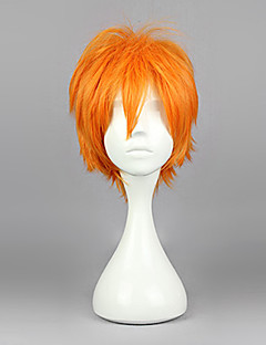 Cosplay Wigs Haikyuu Hinata Syouyou Orange Short Anime Cosplay Wigs 30 CM Heat Resistant Fiber Male