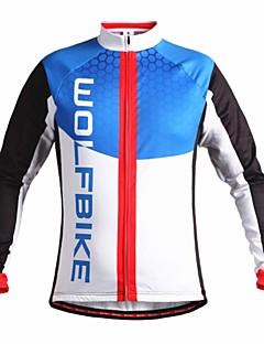 WOLFBIKE Winter Fleece Thermal Windproof Cycling Long Sleeve Cycling Jersey