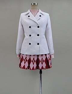 Inspired by Sword Art Online Asuna Yuuki Anime Cosplay Costumes Cosplay Suits Print White Long Sleeve Coat / Top / Skirt