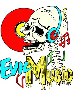 DIY Series Evil Music Skull Pattern Design PVC Decoration Sticker for Car and Others